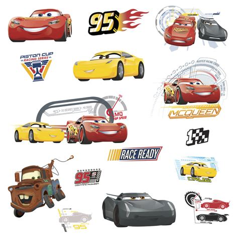 Disney Cars Wall Decals disney cars 3 wall decals lightning mcqueen mater