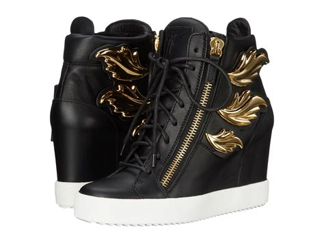 zappos wedge sneakers giuseppe zanotti hi top wedge winged sneaker birel nero