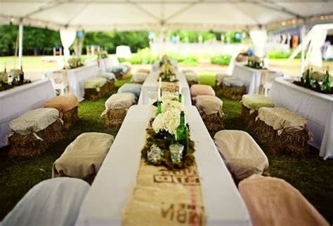 country wedding reception ideas on a budget straw bale seating for your wedding unconventional but not as as you d think