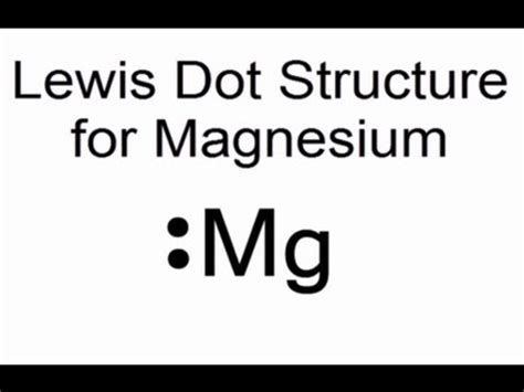 lewis dot diagram for magnesium lewis dot structure for magnesium mg