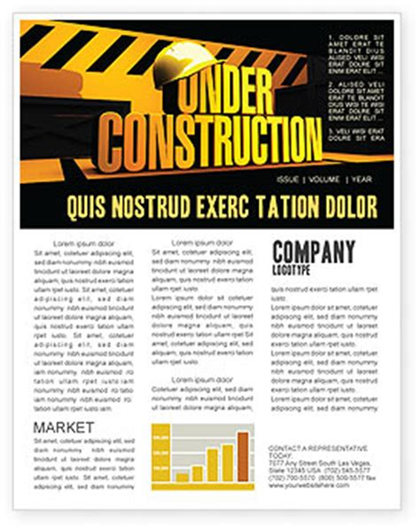 Construction Newsletter Template Closed Under Construction Newsletter Template For Microsoft Word Adobe Indesign 05236