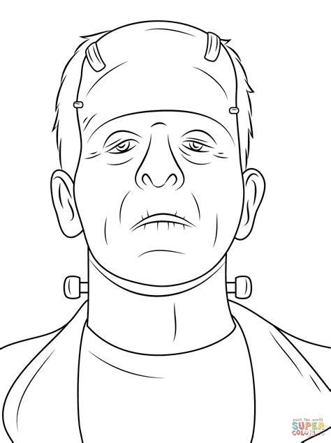 frankenstein coloring pages scary frankenstein coloring page free printable