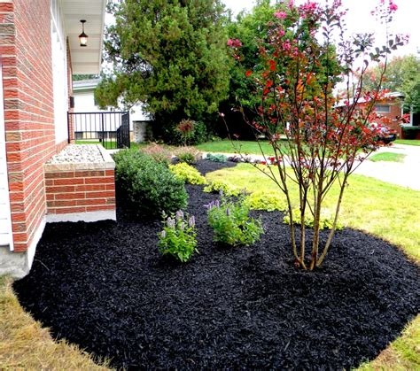 Landscaping Mulch Ideas Stunning Black Mulch Landscaping Ideas You Must See