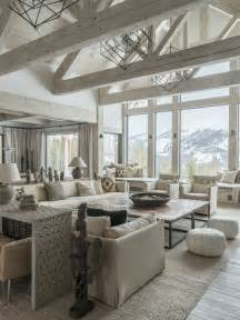 Home Interior Ideas Living Room mountain style formal open concept living room photo in other with