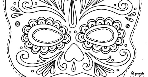day of the dead masks coloring pages yucca flats n m wenchkin s coloring pages sugar skull
