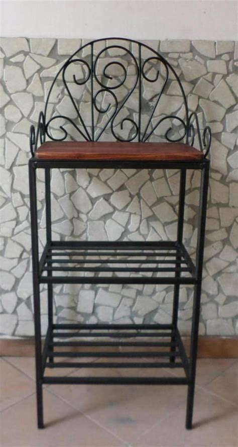 scaffali in ferro battuto scaffale libreria etagere in ferro battuto rustico country