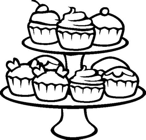cupcake coloring page online cupcakes coloring page outlines pinterest