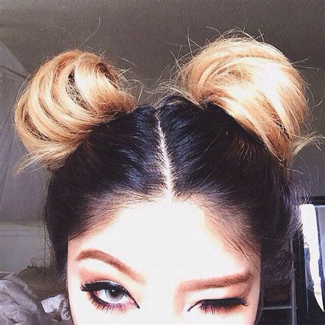 Hairstyles Like Space Buns | makeup and space buns buns beehives pinterest ps