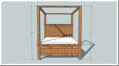 canopy bed plans canopy bed plans how to build diy woodworking blueprints pdf download wood