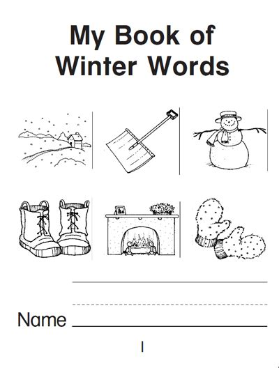 printable picture books my book of winter words a mini book parents