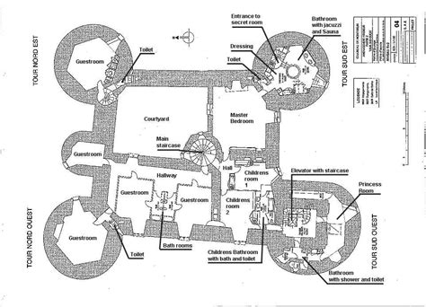 Blueprint Floor Plans For Homes by Montbrun Castle French Medieval Chateau Maps And Plans