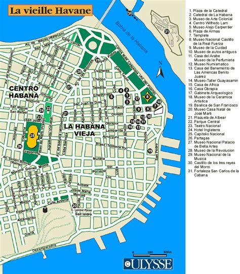 printable map havana havana cuba cruise port of call