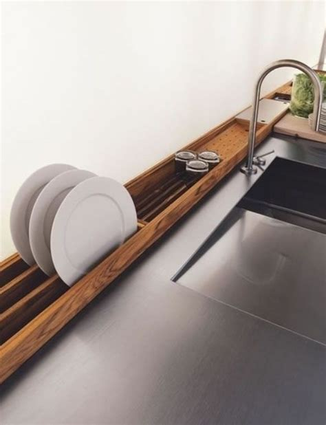 built in drying rack kitchen sink home ideas