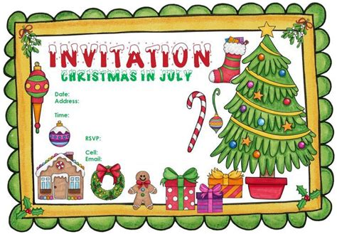 christmas in july invitation celebrate christmas in july