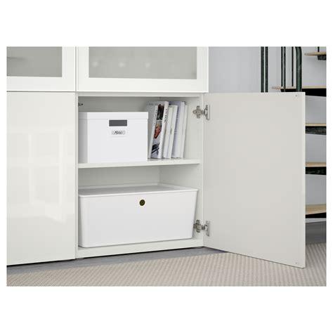 ikea besta white gloss best 197 storage combination w glass doors white selsviken