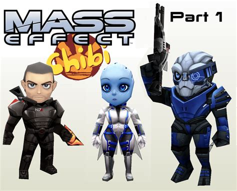 Mass Effect Papercraft - chibi mass effect papercraft paperkraft net free