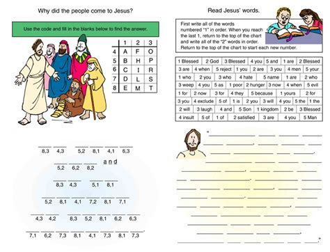 printable children s church activities bible activity sheets in color children s worship bulletins