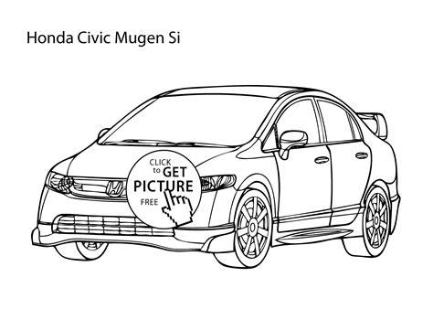 coloring pages of super cars super car honda civic coloring page cool car printable
