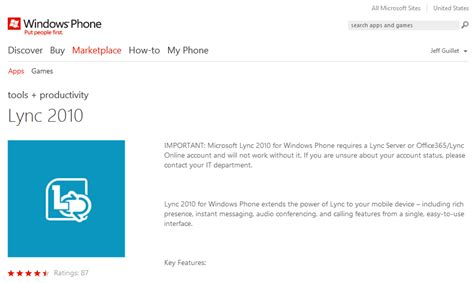 lync mobile client lync mobile client for windows phone now available the