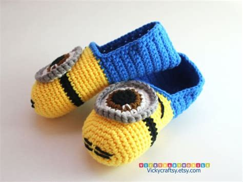 minion crochet slippers crochet minion slippers for adults are