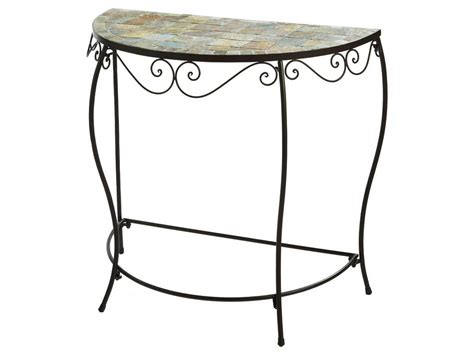 half circle accent table half round accent table