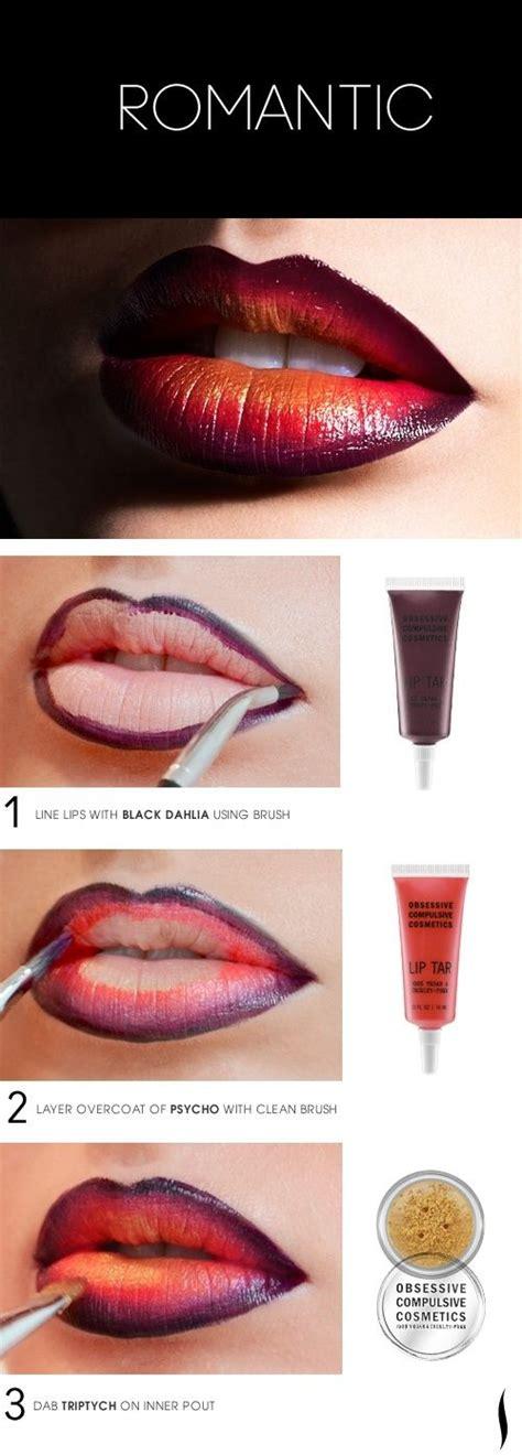 tutorial lipstik ombre romantic vire inspired ombre lip makeup tutorial