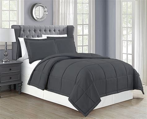 grey down comforter king delboutree charcoal gray turquoise bedding sets sale