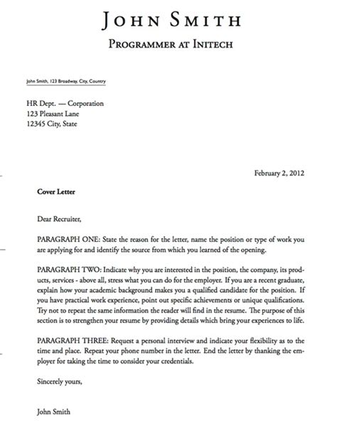 Covering Letter Definition by Cover Letter Definition Gplusnick