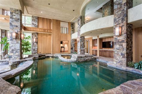 lakefront home  montana   story indoor pool