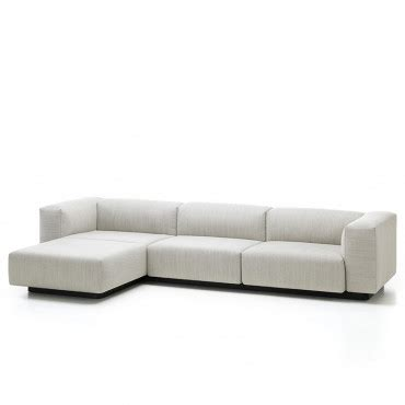 modular sofa with chaise vitra soft modular sofa 3 seater with chaise longue