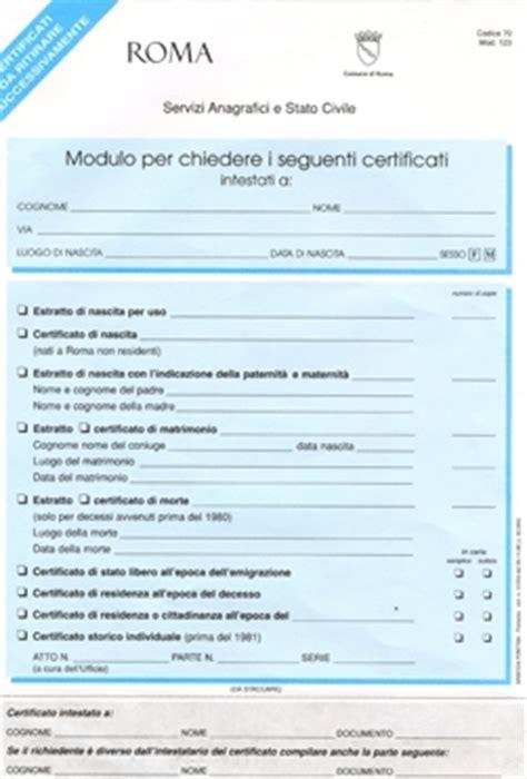 ufficio anagrafe roma via petroselli roma capitale sito istituzionale certificati