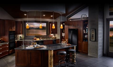 Dark Kitchen Cabinets With Black Appliances contrast consider using them in kitchens with very light cabinetry