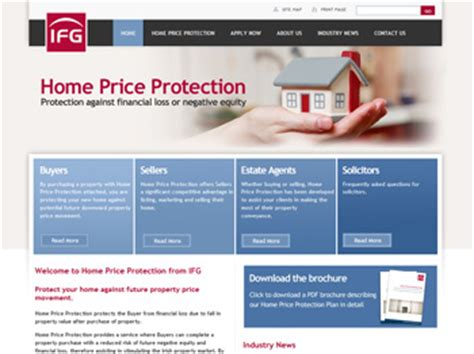 new web design for ifg home price protection