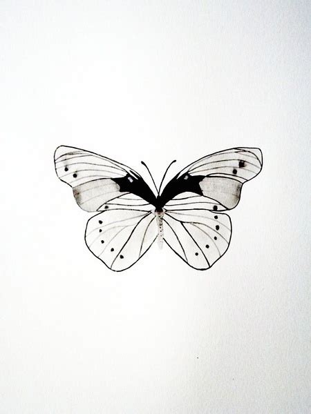 black and white butterfly tattoo designs simple tiny black and white butterfly design