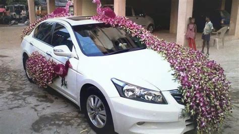 Wedding Car With Flowers by Wedding Car Decoration With Flowers Design Ideas 2017