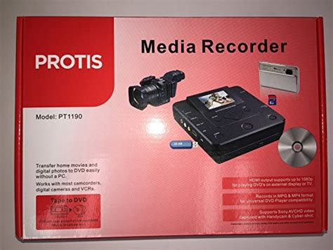normal video format dvd player protis multi function media recorder pt1190 dvd recorder