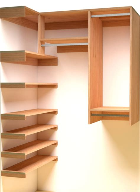 Coat Closet Shelving Step In Closet Organizer Plans