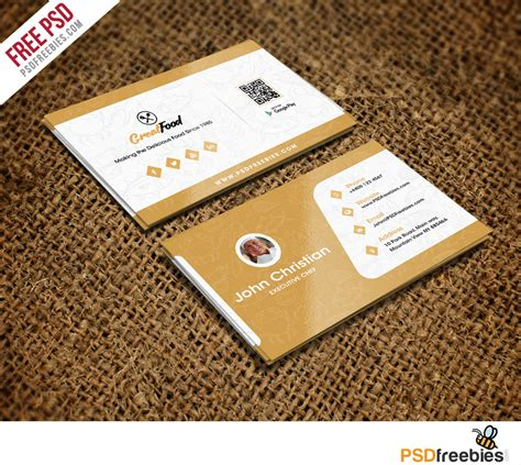 Restaurant Chef Business Card Template Free Psd Psdfreebies Com Restaurant Business Cards Templates Free