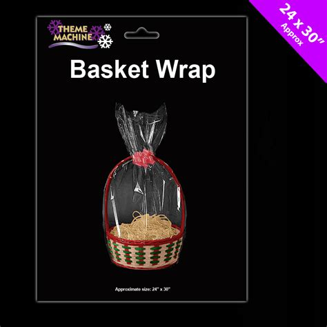 gift wrap for large items 6 x her wrap cellophane basket gift wrap large cello