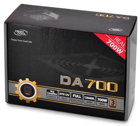 Deepcool Da Series Da700 700w 80 Plus Bronze Psu deepcool intros the da series mainstream psus techpowerup