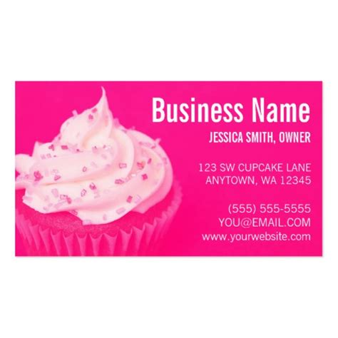 cupcakes business cards templates bakery business card templates page46 bizcardstudio