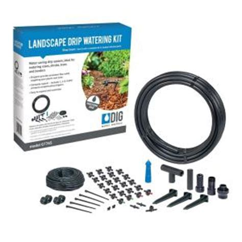 dig drip irrigation watering kit gas  home depot