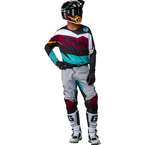 7 motocross gear 2018 seven mx annex ignite gear kit black maroon sixstar