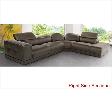 italian sectional sofa set in brown leather 33ls141