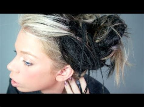installing extension dreads in short hair my dreadlock hair extensions youtube