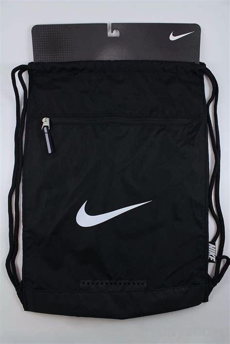 nike team gymsack black white drawstring bag