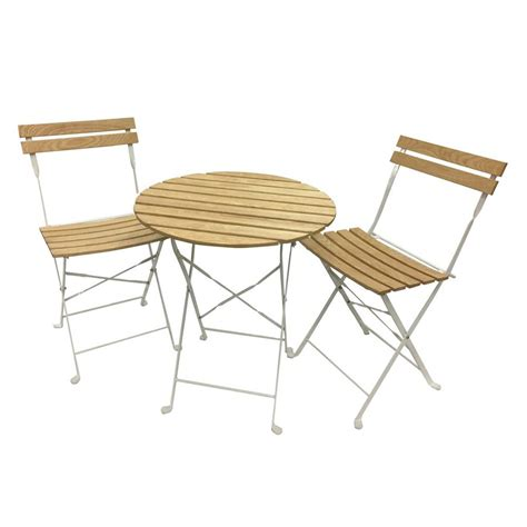 Shop Phat Tommy Aviara 3 Piece White Wood Frame Bistro 3 Patio Dining Set