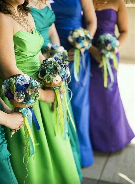 peacock color dress peacock colors gowns wedding wedding bridesmaids