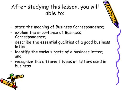 Types Of Business Letter Definition business correspondence