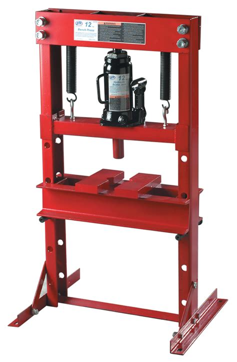 hydraulic bench press atd 7452 12 ton hydraulic bench press with bottle jack